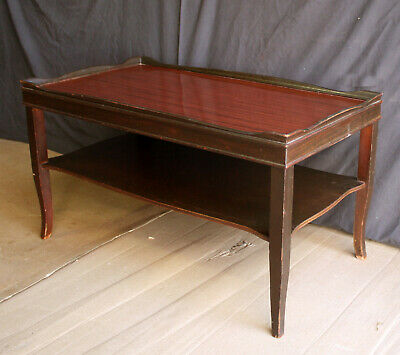 Vintage Antique Mahogany Solid Wood Wooden Side End Lamp Accent Coffee Table
