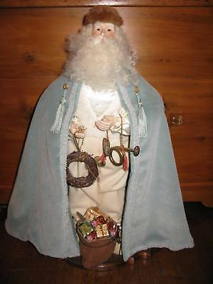 "ONE OF A KIND 23"" Handmade Victorian Father Christmas Santa Claus Figure"