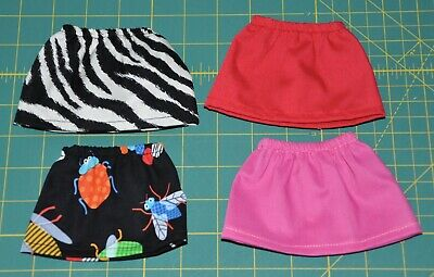 Doll Skirts Made For Wellie Wisher Doll Clothes 4pc set WWS05