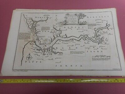 100% Original Gambia River Mouth Africa Map By T Kitchin C1770 Low Start
