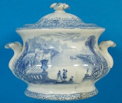 Small Antique English Sugar Bowl or Child's Tureen English Registry Mark 1848