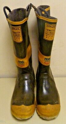 Ranger FireMaster Firefighter Turnout Gear Rubber Boots Steel Toe Size 9 R248