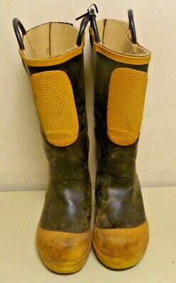 Ranger Shoe-Fit Firefighter Turnout Rubber Boots Steel Toe Size 6 Wide 6w R255