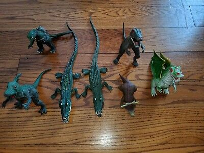 Oliasports 10pcs Mini Godzilla Dinosaur Kids Toys Action Figure Collections New Toys & Hobbies Action Figures