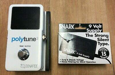 TC Electronic Polytune 3 Polyphonic LED Guitar Tuner Pedal w/ Box & Power Supply