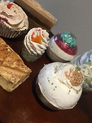 Bath Bomb Cupcake Lush Smelly Scented Indulgent Present Gift delicious