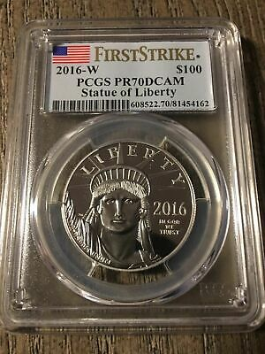 2016-W American Platinum Eagle Proof 1 oz $100 - PCGS PR70 DCAM - First Strike