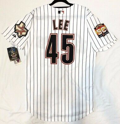 Authentic MAJESTIC SIZE 56 3XL HOUSTON ASTROS PINSTRIPE CARLOS LEE Jersey