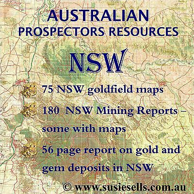 Australian Gold Maps. NSW Goldfields. Gold Locations. Gold Maps On Disc.