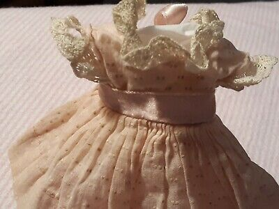 """Vintage Doll Clothes, 8"""" Vogue Ginny, 1950's Swiss Dress w/ Pantie (Medford Tag)"""