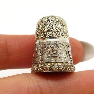 Charles Horner Antique Victorian England 925 Sterling Silver Collectible Thimble