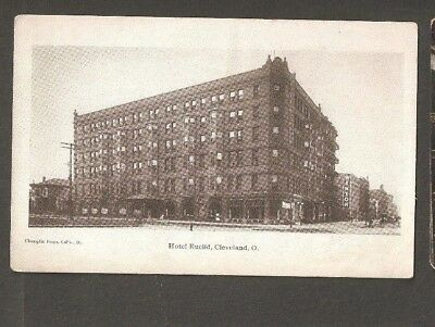 Vtg Postcard Hotel Euclid Cleveland Ohio OH O Early Undivided back Winton