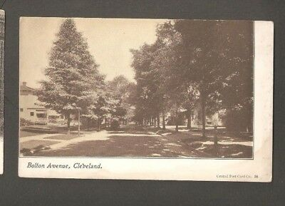 Vtg Postcard Bolton Ave Cleveland Ohio OH O Undivided back Early