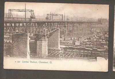 Vtg Postcard Central Viaduct Cleveland Ohio OH O Early Undivided back