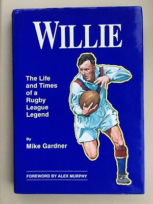 Double Signed- Willie (Gardner) Barrow Rlfc Rugby League Legend 1994 -Very Good