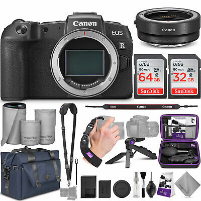 Canon EOS RP Mirrorless Digital Camera Body w/Canon Mount Adapter & Bundle
