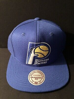 low priced bf9a2 f3f4c Indiana Pacers Mitchell   Ness NBA Snapback Hat XL Logo HWC Cap HWC New Rare
