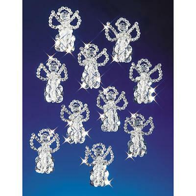 """Holiday Beaded Ornament Kit LITTLE ANGELS Christmas Ornaments 2.5"""" Makes 18"""