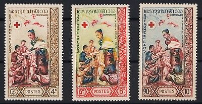Laos 1963 132 – 134 Centenary of International Red Cross postfrisch