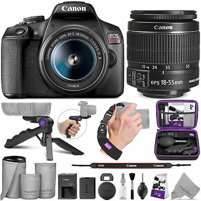 Canon EOS Rebel T7 DSLR Camera with Canon EF-S 18-55mm IS II Lens & Bundle