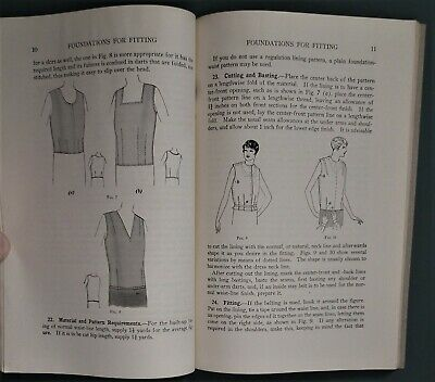 CUTTING AND FITTING vintage antique 1920s sewing dressmaking Woman's Institute