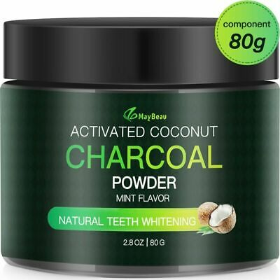 MayBeau Teeth Whitening Powder FDA Approved Natural Activated Charcoal Teeth Whi