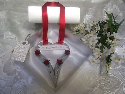 LUXURY WEDDING HORSESHOE HEART  HAND FORGED  GIFT BOXED with TAG
