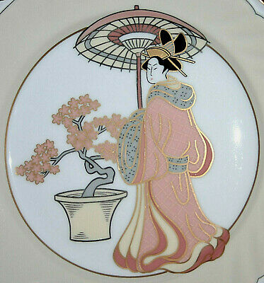 Fitz & Floyd Fine Porcelain Display Plate > Theme: Oriental > Hand Painted