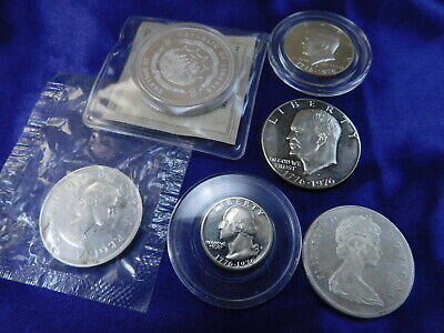 Lot Of 7 Silver Coin Mix - Nearly New Condition