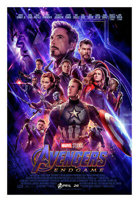 Avengers Endgame (Advance) Movie Poster (2019) 24x36 inches