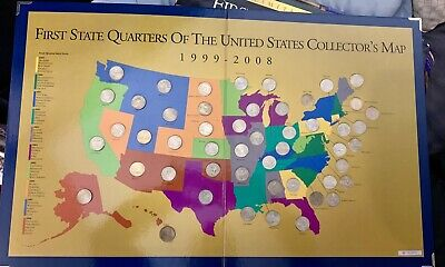 First State Quarters Of The US Collector's Map 1999-2008 Limited Edition