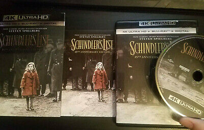 Schindler's List 4k Ultra HD Blu-ray with Slipcover and Pamphlet
