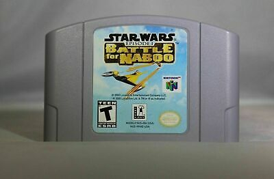 Star Wars Episode 1 Battle for Naboo - Nintendo N64 Game Authentic