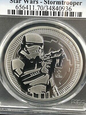 2018 $2 NIUE 1oz .999 SILVER STAR WARS STORMTROOPER PCGS MS70 [FREE SHIPPING]