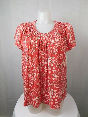 c2a697ced6b Style & Co Plus Size Pleated-Neck Floral Print Top 3X, Aurora Rose Combo