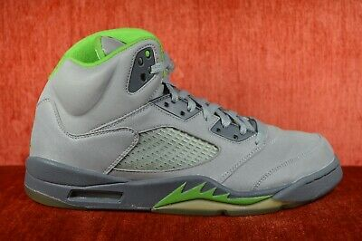 4fa11edd206ec8 CLEAN Nike Air Jordan V 5 Retro 2006 Silver Green Bean Size 11 136027-031