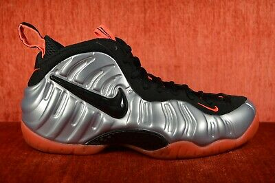 38dc9ab63fd85 CLEAN NIKE AIR FOAMPOSITE PRO BRIGHT CRIMSON SIZE 9 silver orange 624041-016