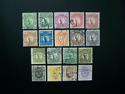 Sweden Stamps 1910-1919 Years Nice Set, Scott # 77-84, 86-89, 93-98. Used