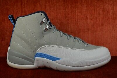 b150206c975795 CLEAN Nike Air Jordan 12 XII Retro Grey University Blue UNC Size 10 130690- 007