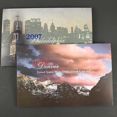 2007-P&d United States 28-Coin Unc Mint Set ~ All Coins With Satin Finish