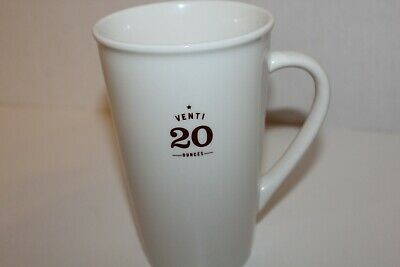 Starbucks Coffee Mug 2010 White Size Venti 20 fl oz Maroon letters great conditi