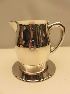 """Reed & Barton Silver Plate 6"""" Revere Pitcher~Jug w/Liner~Underplate~Water/Milk"""