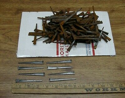 """160 Vintage Cut Nails,3"""" Long,+-,Flooring,Crafts,Up-Cycle,Re-Purpose,Excellent!"""
