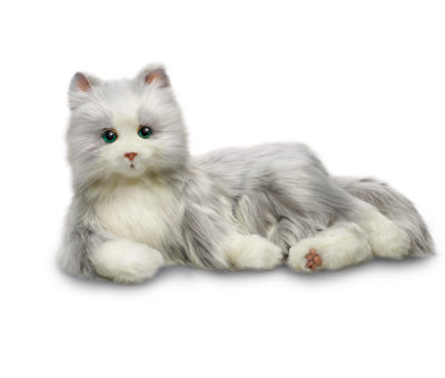 Interactive Joy For All Companion Pet Silver Cat