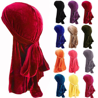 US 2019 Hot Unisex Men Women Velvet Hat Premium Cap Focus On Doo Durag Headwear