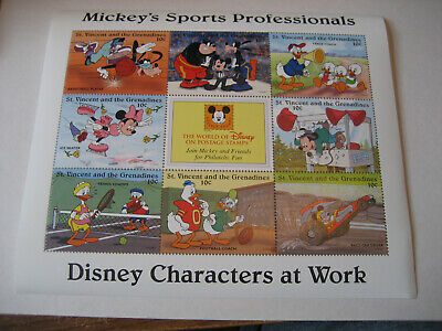 St.Vincent & The Grenadines 1996 Disney Personnages At WORK-MICKEY'S Sports Pr