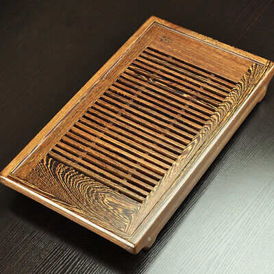 Wenge wood tea tray with plastic layer water holder Chinese solid wood tea table