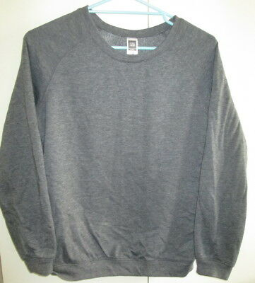 Ladies Active & Co Fitness Size 10 Grey Top Windcheater Long Sleeve Cotton Blend