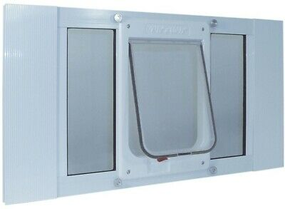 Ideal Pet Large Chubby Cat Frame Door Sash Window Magnetic Flap 7.5 x 10.5 Inch