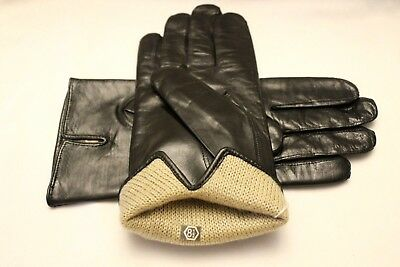Hungarian MAN Nappa Lambskin Leather Gloves, Made in Hungary, BLACK 6000